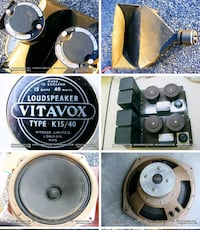 British Vitavox horns, crossovers and woofers for sale in Virginia Woodstock, 22664
