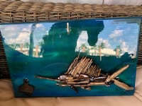 Handcrafted driftwood sailfish with bottle opener and ringtoss game Palm Beach Gardens, 33410
