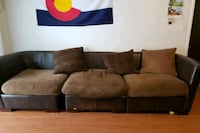 L section brown couch Boulder