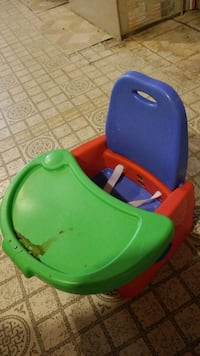 baby's green and blue potty trainer Edmonton, T5E 0Z5