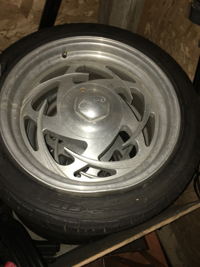 Photo Rims and tires. Tires like new. Low pro 17's
