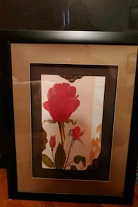 Rose painting in glass frame Elizabethton, 37643