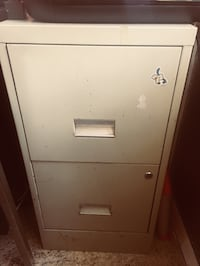 White metal 2-drawer filing cabinet New York