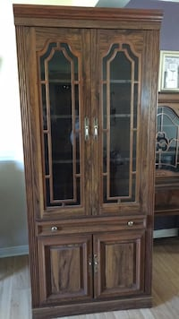 China cabinet $50.00 or best offer. A little damage on the bottom right side The Nation / La Nation, K0A