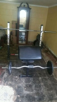 Marcy power bench and accessories Cincinnati, 45211