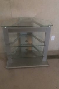 Three Glass shelf entertainment center/ [TL_HIDDEN]  Martinsburg, 25404