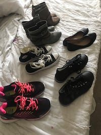 6 pairs of shoes size 6, 6 1/2 & 7 *only worn once Dunedin, 34698