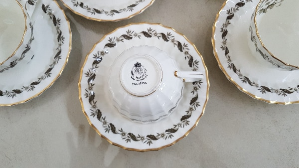 Engadine Royal Worcester tazze da the