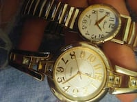 round gold-colored analog watch with link bracelet Tonopah, 89049