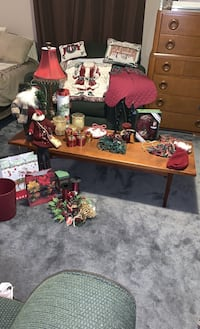 Cranberry Christmas Tree skirt, stockings, throw, candles, lamp, more. Edmonton, T6H 5N1