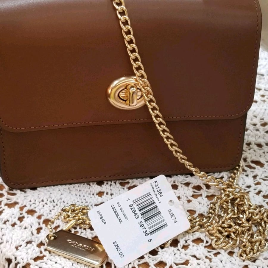 "COACH SMALL PURSE WITH 23""CHAIN"