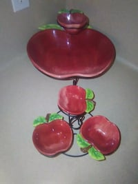 Colored apple shaped dip and chip holder  Edinburg, 78542