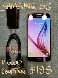 AmazingSamsung Galaxy S6 10/10cond.with charger A+