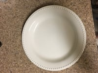 Round white ceramic plate from Pottery Barn (Set of 6) Hardeeville, 29927