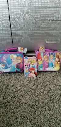 pink and blue Disney Princess themed bag Brampton, L6R