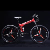 red and black full-suspension bike Calgary, T2A 2V6