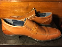 pair of brown leather full-strap loafers Brampton, L7A 2X5