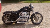 black and gray cruiser motorcycle 388 mi