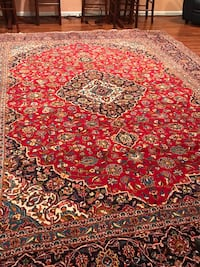 Kashan  Handmade  wool persian rag  13.7x 9.7  or 4x3 meter , which is in very good condition.  Cash only Sterling, 20165