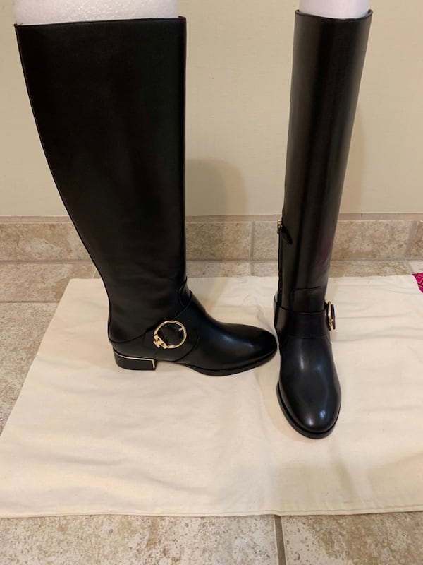 New Tory Burch black riding boots 3
