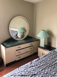 white and black wooden dresser with mirror Ottawa, K1T 4H8