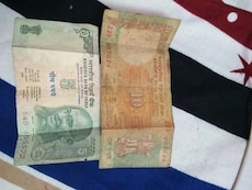10 and 5 indian rupee bills