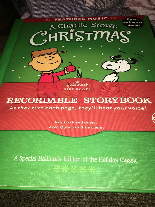 Recordable Christmas Books.Charlie Brown Christmas Recordable Storybook Hallmark New New