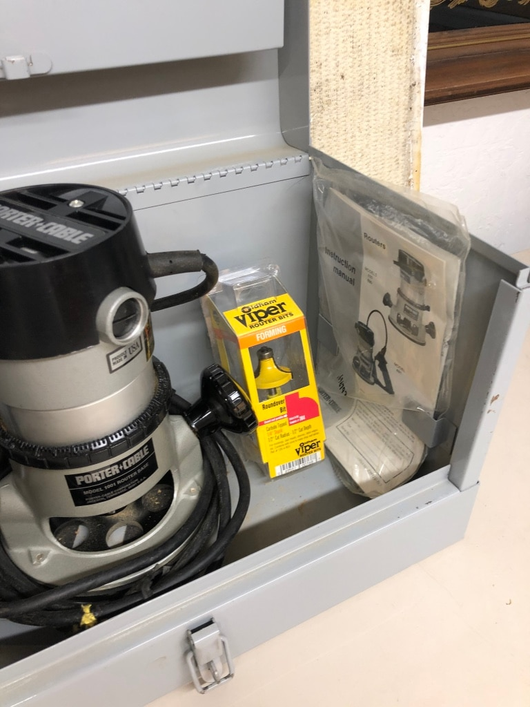 Photo Porter Cable Router and Bits