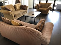 Brown fabric sofa set with coffee table Richmond, V6Y