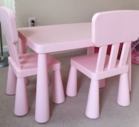Children's Table and Chair Set 38 mi
