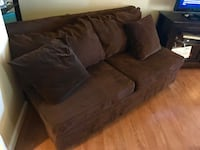 Chocolate brown couch & corner piece Stow, 01775