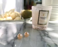 AAA quality high luster fresh water pearl earrings|Hand-made in MTL