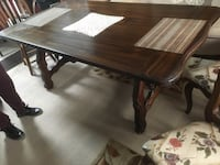 Wood table with glass top. 6' Long  Bay Shore, 11706