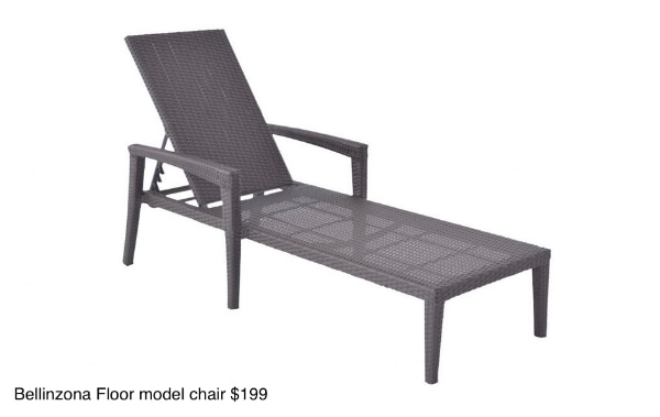 used outdoor aluminum 5 x adjustable lounge chair floor model for rh gb letgo com
