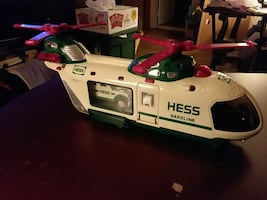 Hess truck, helicopter
