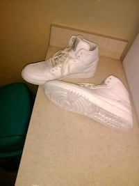 pair of white Nike Air Force 1 high shoes Tampa, 33613