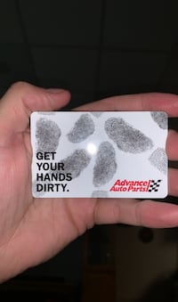 Advance auto parts card.    $10 on it