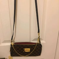 black and red leather crossbody bag Davie