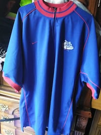 blue and red Nike Georgia Bulldogs zip-up jacket Houston