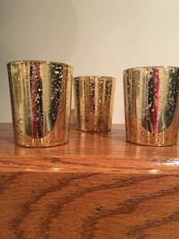 Ash Mercury Gold Votives with Candles