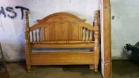 brown wooden bed headboard and footboard Springfield, 65803
