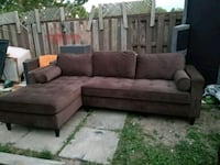 brown suede sectional sofa with ottoman Niagara Falls, L2E