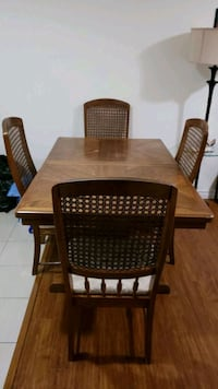 Solid wood table with six  chairs for sale  Toronto, M1E