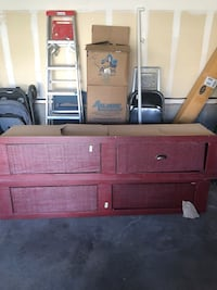 Full size bed with 4 draws underneath. Red. Price negotiable  Castle Rock, 80109