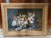 Hand made flower painting