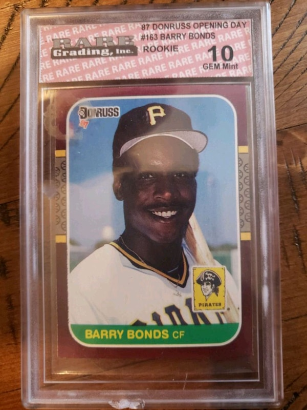 Barry Bonds Rookie Card Rated 10 Gem Mint