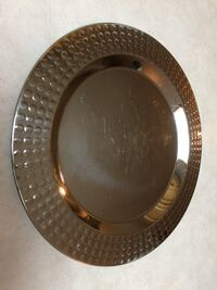 Silver Metal Food Serving Platter Plate 12 inches Surrey