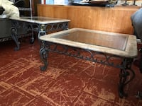 Marble, Iron, & Glass Table Set in Excellent Condition! 936 mi