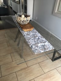 Glass table with bench Toronto, M6N 3W5
