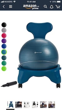 Yoga Ball Chair with extenders